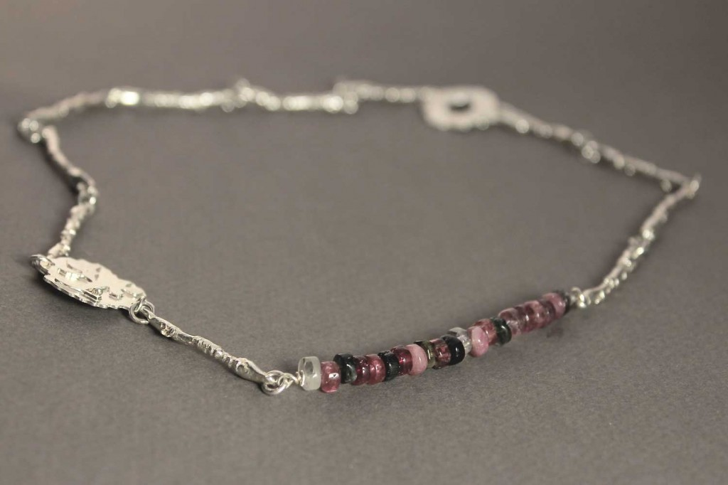 Necklace in Sterling Silver with Tourmaline