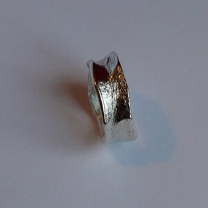 Sterling silver ring natural organic form. Size is