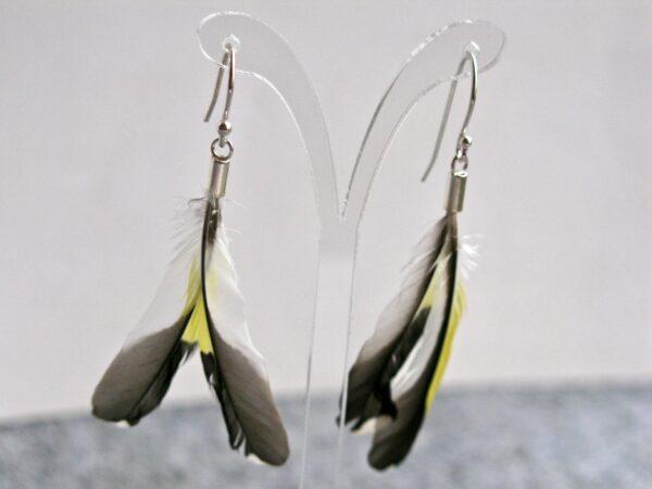 Greenfinch's feathers earrings